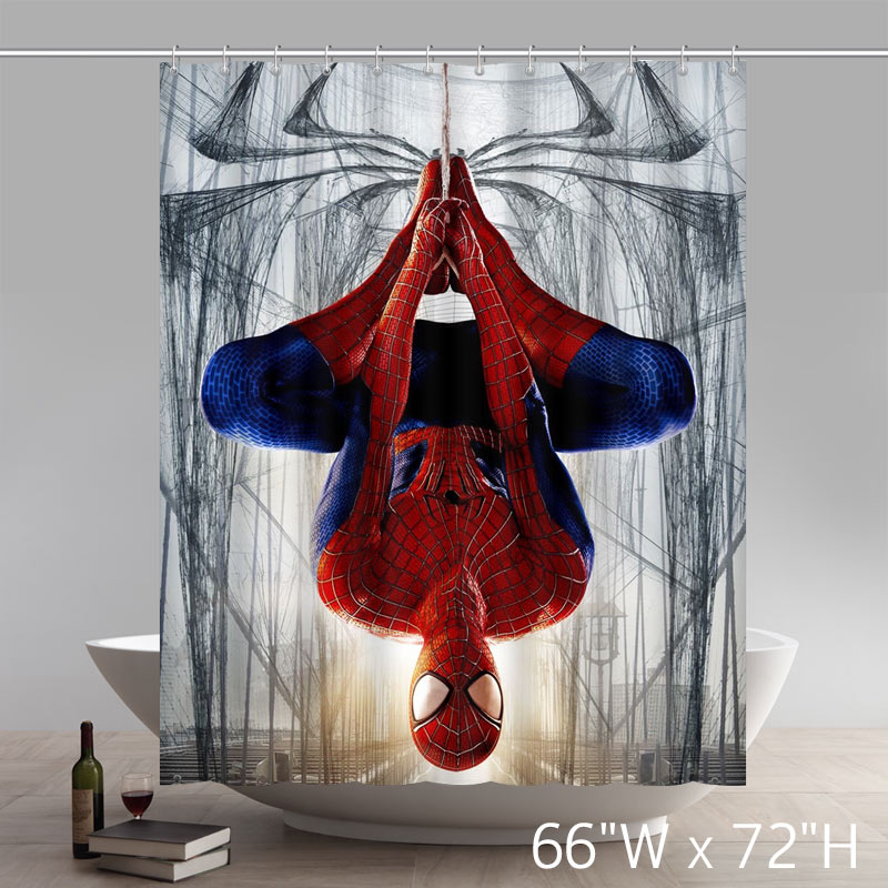 Movie Stars the Amazing Spiderman Waterproof Bathroom Shower Curtain Polyester Fabric Shower Curtain
