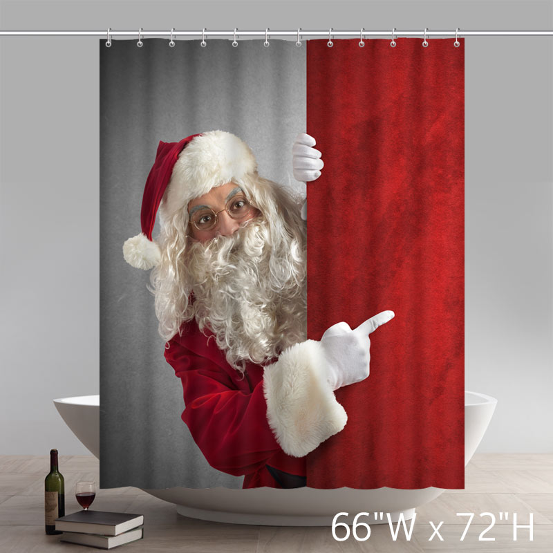 Custom Funny Print Christmas Gifts Amazed Santa Claus