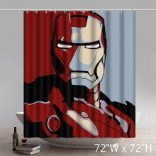 Cool Movie Stars Super Hero The Avengers Iron Man Polyester Waterproof Shower Curtain