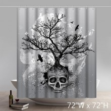 Creative Skull Tree Home Decor Day of the Dead Polyester Fabric Shower Curtain