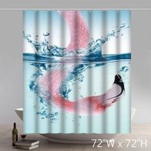Creative Flamingos Waterproof Fabric Polyester Shower Curtain