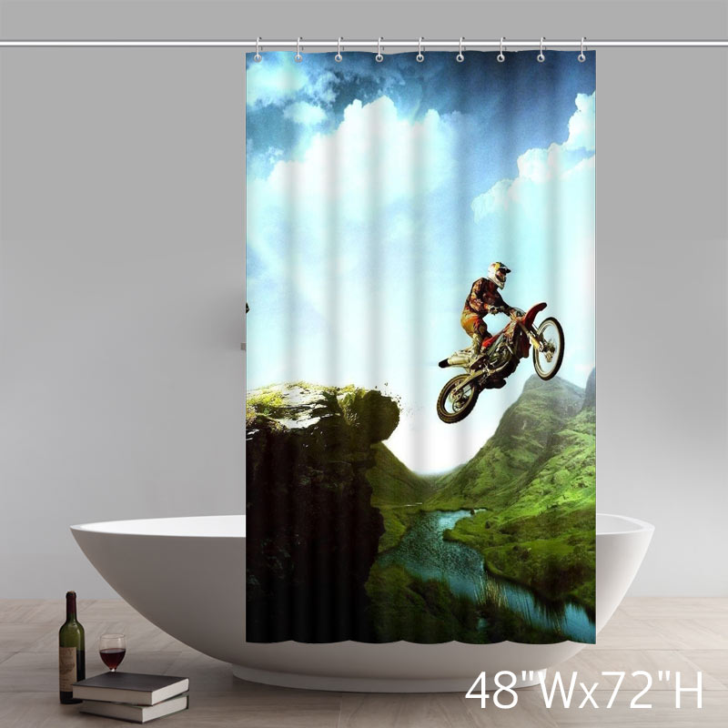 Cross Bear Scenic Moto Motoxbear Shower Curtain