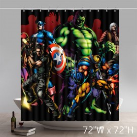Custom Marvel Comic Movie Stars Superhero the Avengers Waterproof Bathroom Shower Curtain