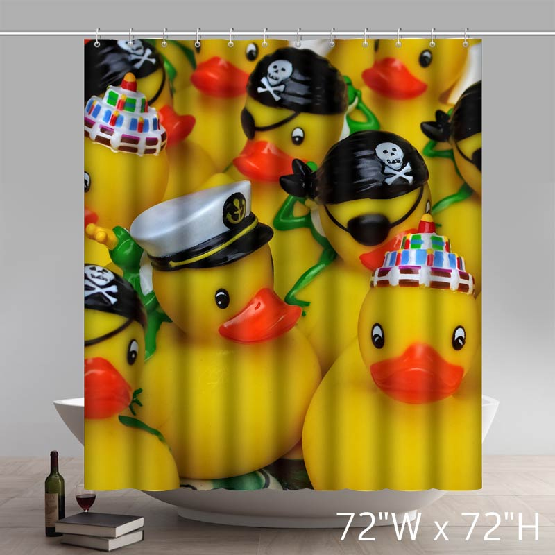 Funny Rubber Duckies Are Hiding A Dirty Little Secret Shower Curtains