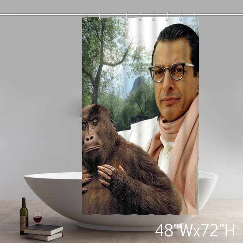 Movie Stars Jeff Goldblum The Mad Monkey Custom Waterproof Shower Curtain