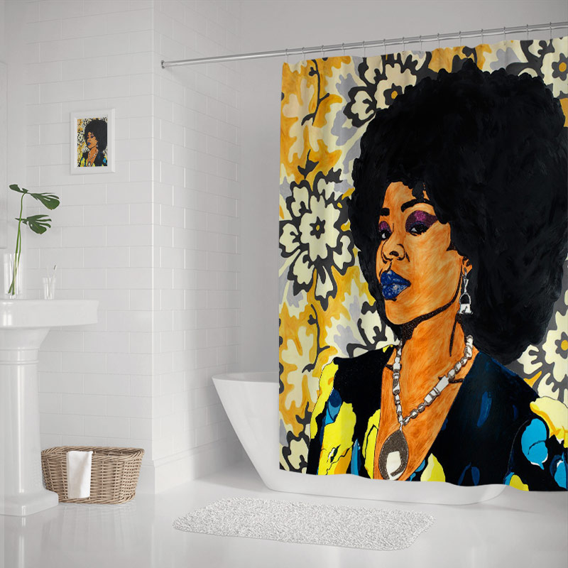 Jessica Paintings Of Black Women The Modern Art Shower Curtains