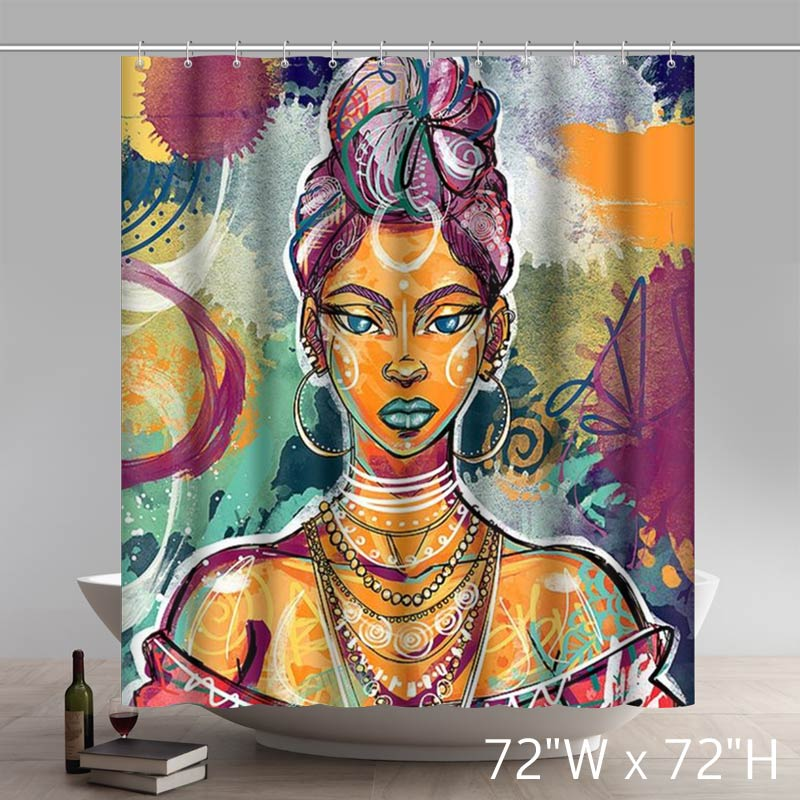 Liberty Art RL Brads Board Mulatto Shower Curtains