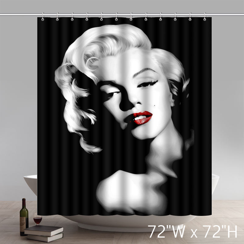 Surprised Gift Movie Stars Custom Marilyn Monroe Waterproof Waterproof Shower Curtain