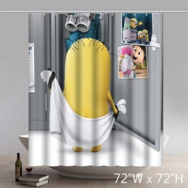 Funny Minion Bathing Despicable me Custom Shower Curtain