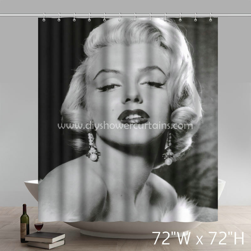 Movie Stars Marilyn Monroe Bathing Shower Curtains