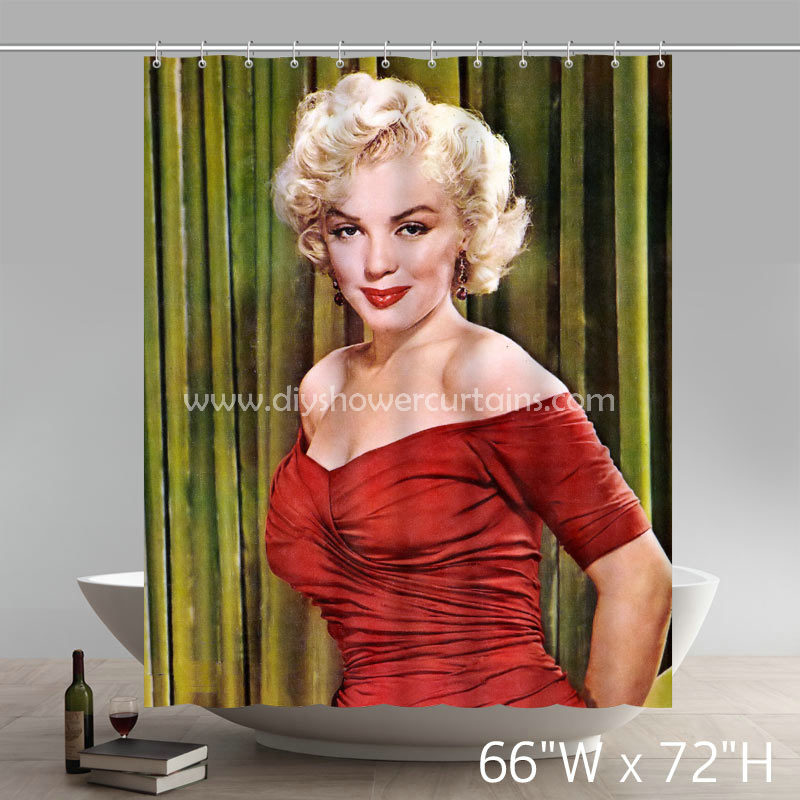 Movie Stars Marilyn Monroe Blonde Bombshells Bathing Shower Curtains