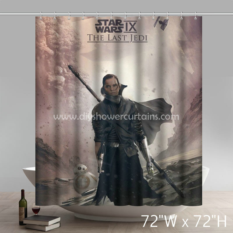 Movie Stars Star Wars Episode IX The Last Jedi Bathing Shower Curtains
