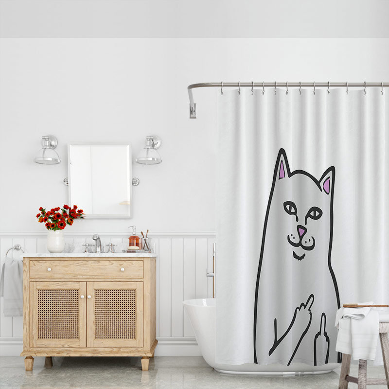 Rip Dip Lord Nermal Bathroom Waterproof Polyester Shower Curtain