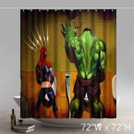 Superhero Hulk Spideman funny Waterproof Polyester Personalized Custom Shower Curtain