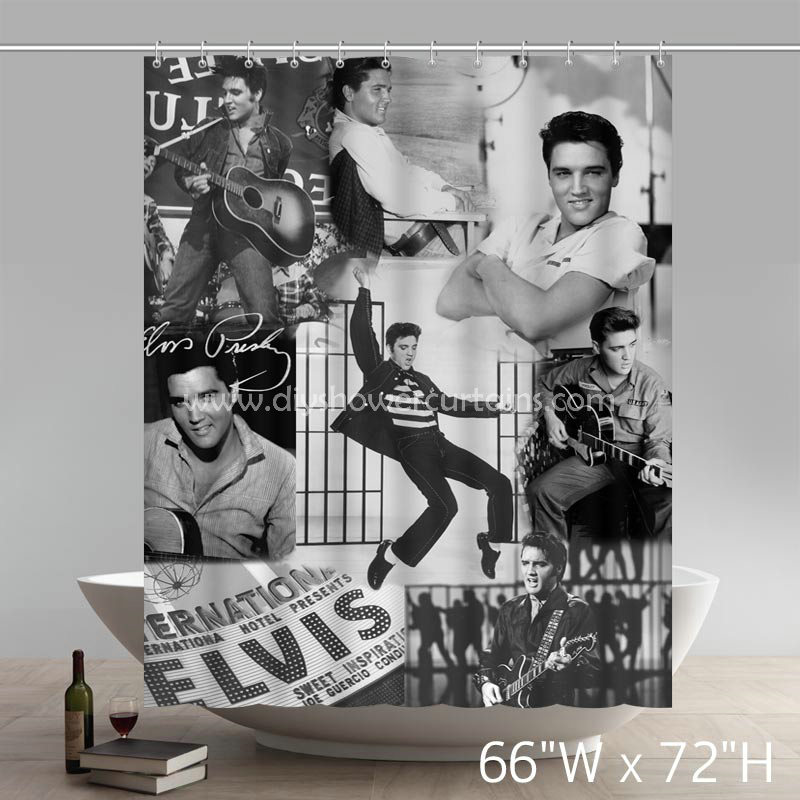 Symbol Elvis Presley Bathing Shower Curtains
