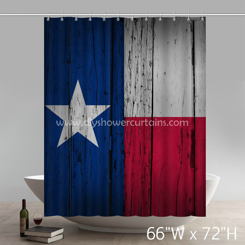 Symbol Long Star State Bathing Shower Curtains