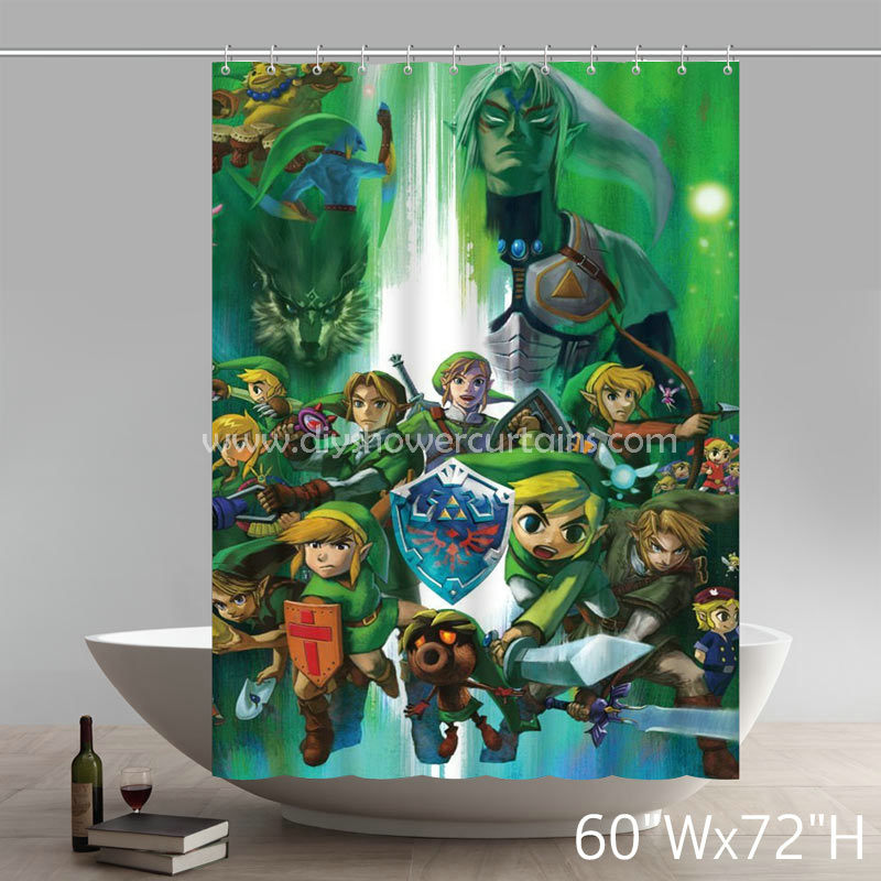 Symbol The Legend Of Zelda Hyrule Historia Bathing Shower Curtains