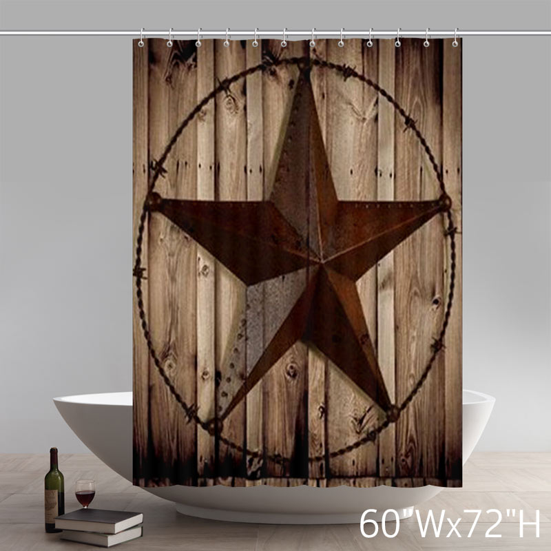 Symbol Western Decor Southwestern Primitive Shower Curtain