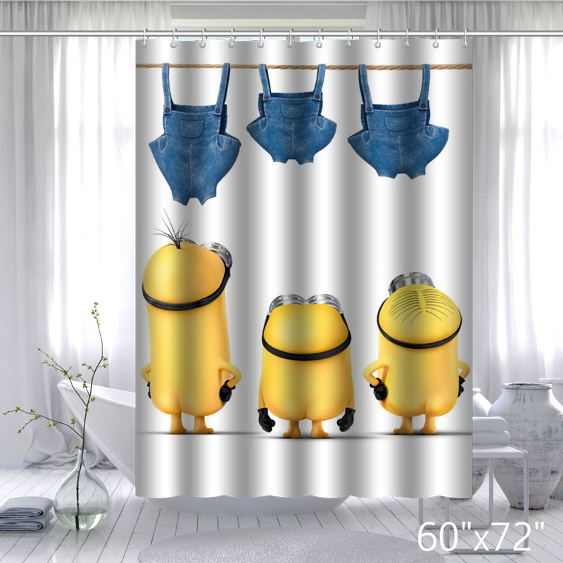 Mischievous Minions Series Custom Shower curtains
